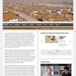 Syrianrefugees website snapshot