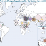 Miniature of the Worldmap of Protracted Refugee Populations